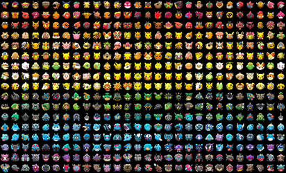 Pokemon Shuffle by Color by toxicsquall