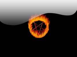 Burning Pentagram by rontz