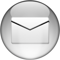 Silver Aqua Mail Icon by rontz