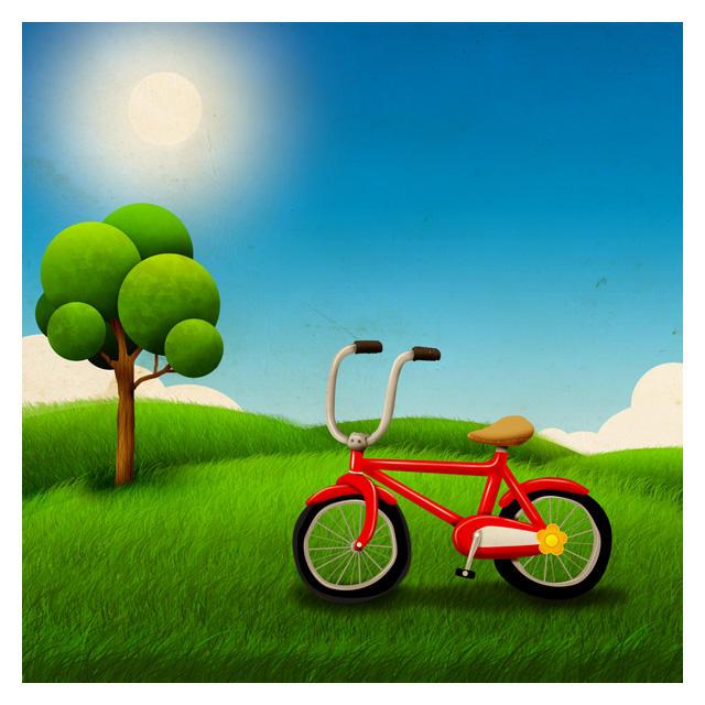 Red Bike by thomasdian