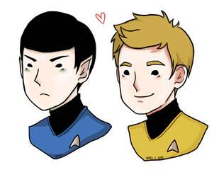 Spock_Kirk by bluehippopo