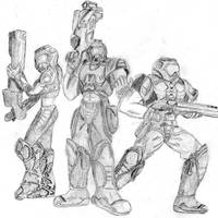 Quake 3 Doom Marines by CantuArt