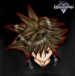 Evil Sora by InvisibleRainArt