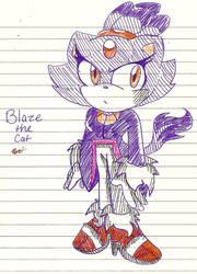 Blaze the Cat 02 by Shapoodle4u