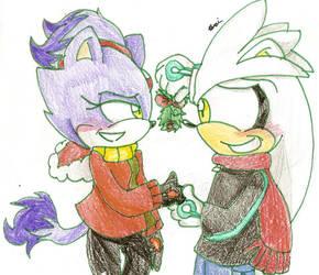 Christmas 2010: Silver x Blaze by Shapoodle4u