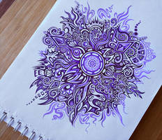 Purple Swirl Pattern by Zyari