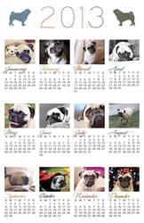 Layla Pug 2013 Calendar by garnettrules21