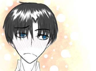 Levi blush quick sketch by Darkness637