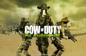 Cow Of Duty by shinoaburame23