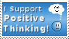Positive Thinking Stamp by cjqueen76