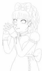 Girl Linework by MiZuInK