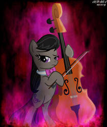 Octavia Melody Playing Her Cello by DirtPoorRiceKing