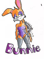 Bunnie Rabbot by DrawingWithFoxy
