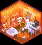 Commission Mini chibi Room HeartsofInsanity by LaKirly