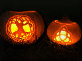 Celtic Halloween Pumpkins by Navanna