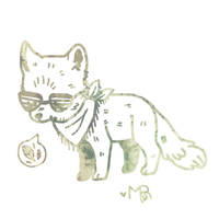 Hipster Fox by Magicpawed