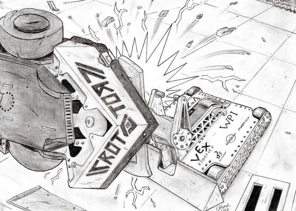 Battlebots - Ice Wave Vs RotatoR by Robotboy321