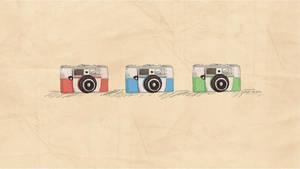 Vintage Cameras - Wallpaper by Oweeo