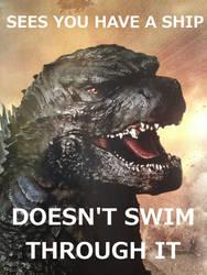Good Guy Godzilla- Ship by Loganius