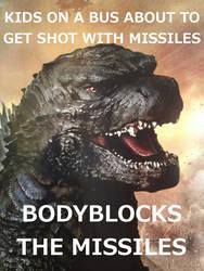 Good Guy Godzilla- Kids by Loganius