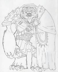 General Zhestok of the Mehkarvul- Linework by Loganius