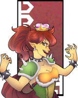Super Crown Princess - Bowsette by AmandaSantos-AS