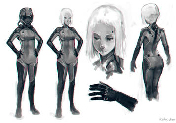 Sci-fi sketches by Raiden-chino