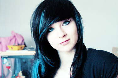New ID ? Blue hair by happymoonwolf