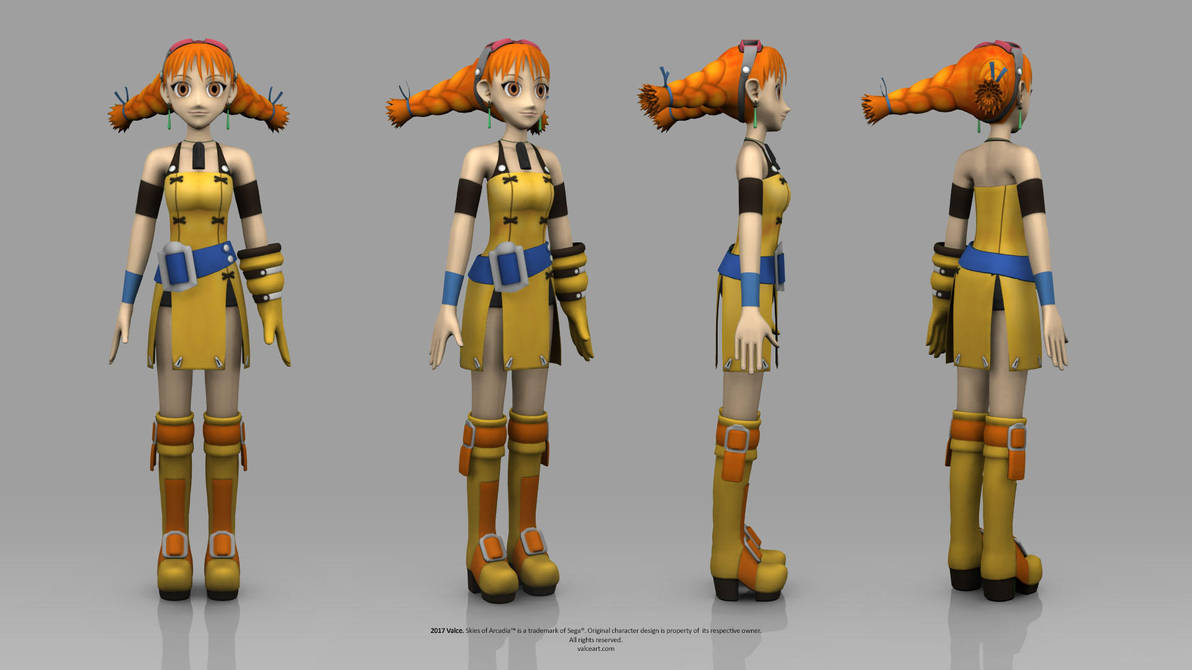 Skies of Arcadia - Aika by TheRealValce