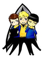 Star Trek Triad collored by Cristina-Corruptive