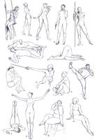 Figure studies - Senshistock Draw Everything June by eilidh