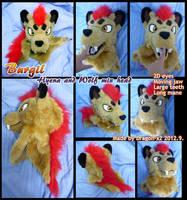 Burgil the hyena/wolf hybrid head by dragon-x2