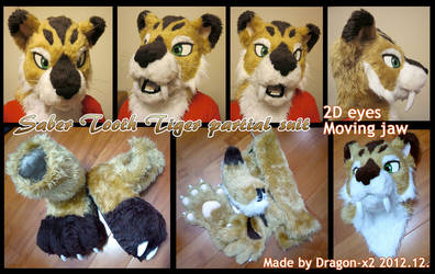 Saber tooth tiger half suit by dragon-x2
