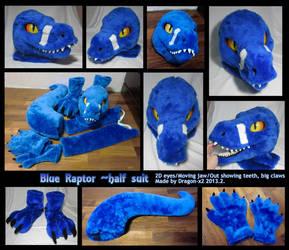 Blue raptor half suit by dragon-x2