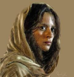 Indian woman in sari by ragamuffin57