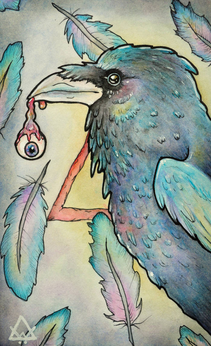 Crows Will Peck Your Eyes Out. by ArtfullyArtless