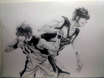 Kuroko and Kagami Draw by RJEsteves