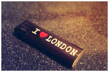 I Love London lighter by hauerli