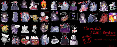 Horrortale LINE Stickers by caphricina