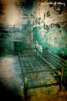 Abandoned Penitentiary - Cell Bed With Table by cjheery