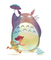 Totoro by Nesskain