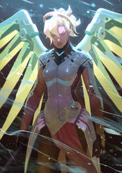 Overwatch - Mercy by Nesskain