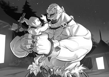 Baby orc will be strong by Nesskain