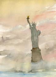 Guarding Liberty ( Plain Image Without Poem ) by brianmeyer