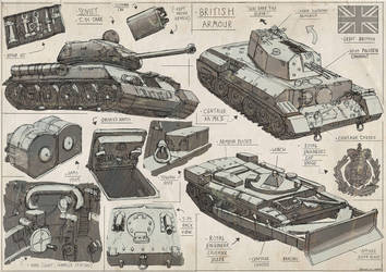 WW2 Vehicle Sketches by Magnum117