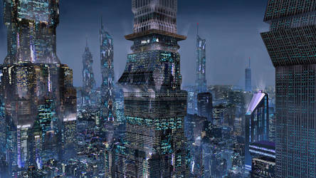 Sci-Fi Night City 01 by Magnum117