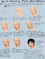 Digital Semi-Realism Skin Tutorial by TheComicStream