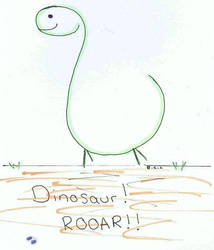 Dinosaur! ^_^ by Squiddy-chan