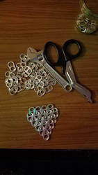 WIP aluminum can tab chainmail  by EdwardsOtherSide