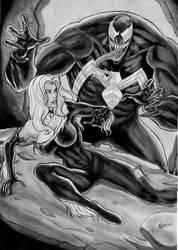Black Cat Vs Venom by gregohq